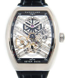 Franck Muller Vanguard Stainless Steel Transparent Skull Manual Wind V 41 S6 Sqt (AC.NR)