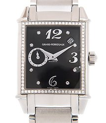 Girard Perregaux Vintage 1945 Stainless Steel & Diamonds Black Automatic 25932D11A661-11A
