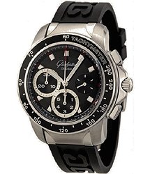 Glashutte Original PanoGraph Sport Evolution Chronograph Black Dial Black