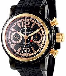 Graham Grand Silverstone Woodcote II, Black PVD and red gold, Ltd.  2GSIUBR.B07A.K07B