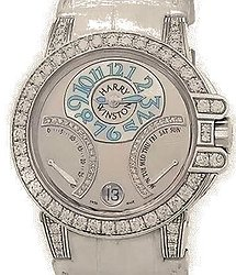 Harry Winston Ocean Collection Biretrograde 18k White Gold Automatic