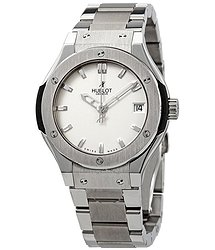 Hublot Automatic Titanium White Dial Ladies Watch