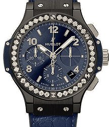 Hublot Big Bang 41 MM Ceramic Blue Diamonds
