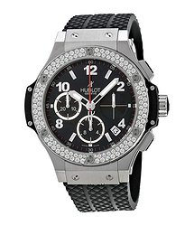 Hublot Big Bang Black Dial Black Rubber Men's Watch