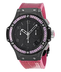 Hublot Big Bang Black Dial Chronograph Ladies Watch