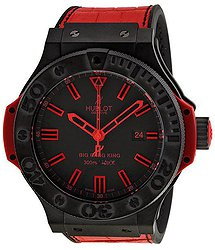 Hublot Big Bang Black Dial Red Leather Strap Men's Watch 322-CI-1130-GR-ABR-10