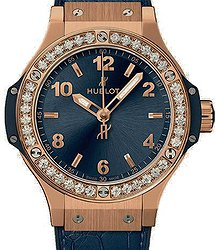 Hublot Big Bang Gold Blue Diamonds 38mm