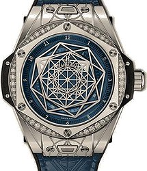 Hublot Big Bang One Click Sang Bleu Steel White Diamonds 39 mm