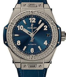 Hublot Big Bang One Click Steel Blue Diamonds 39 mm