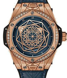 Hublot Big Bang Sang Bleu King Gold Blue Diamonds 39 mm
