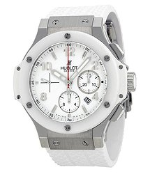 Hublot Big Bang St. Moritz Chronograph White Dial White Rubber Unisex Watch