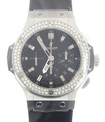 Hublot Big Bang Stainless Steel & Diamonds Black Automatic 301.SX.1170.RX.1104