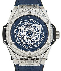 Hublot Big Bang Stainless Steel & Diamonds Blue Automatic 465.SS.7179.VR.1204.MXM19