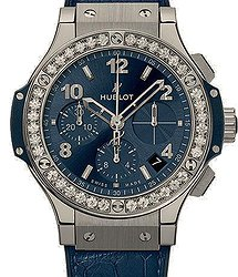Hublot Big Bang Steel Blue Diamonds 41mm
