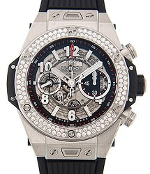 Hublot Big Bang Titanium With Diamond Silver Automatic 411.NX.1170.RX.1104