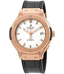 Hublot Classic Fusion 18kt Rose Gold White Dial Automatic Unisex Watch 565OX2610LR