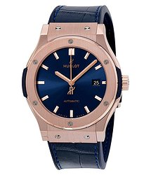 Hublot Classic Fusion Automatic Blue Sunray Dial 18kt Rose Gold Men's Watch