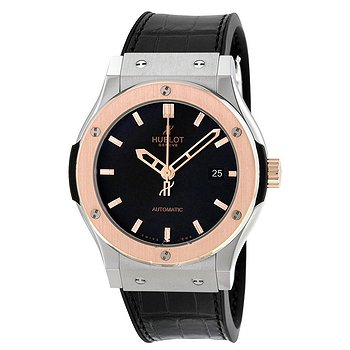 Купить часы Hublot Classic Fusion Automatic Titanium Dial Black Alligator Leather Men's Watch  в ломбарде швейцарских часов