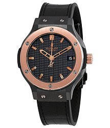 Hublot Classic Fusion Black Dial Black Leather Strap Unisex Watch