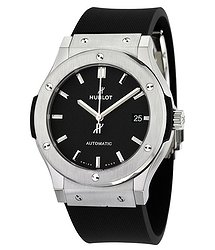Hublot Classic Fusion Black Dial Black Rubber Men's 45mm Watch