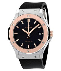Hublot Classic Fusion Black Dial Black Rubber Men's Watch