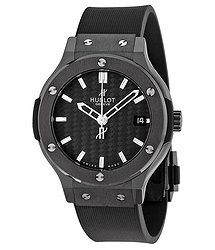 Hublot Classic Fusion Black Dial Black Rubber Strap Men's Watch