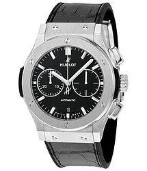 Hublot Classic Fusion Black Dial Chronograph Titanium Automatic Men's Watch