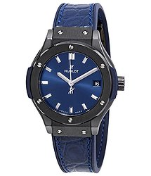 Hublot Classic Fusion Blue Dial Ladies Watch