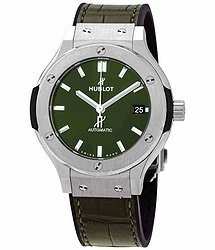 Hublot Classic Fusion Green Sunray Dial Automatic Men's Titanium Watch