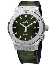 Hublot Classic Fusion Green Sunray Dial Automatic Men's Watch