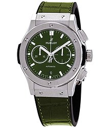 Hublot Classic Fusion Green Sunray Dial Chronograph Automatic Men's Watch