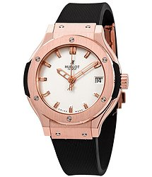 Hublot Classic Fusion King Gold Opaline Quartz Ladies Watch