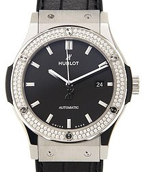 Hublot Classic Fusion Mat Black Dial Automatic Men's Diamond Watch