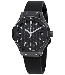 Hublot Classic Fusion Mat Carbon Fiber Dial Ladies Watch