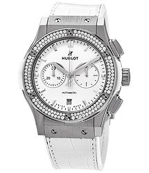 Hublot Classic Fusion Mat White Dial Automatic Ladies Chronograph Watch