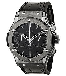 Hublot Classic Fusion Matte Black Automatic Chronograph Black Alligator Men's Watch