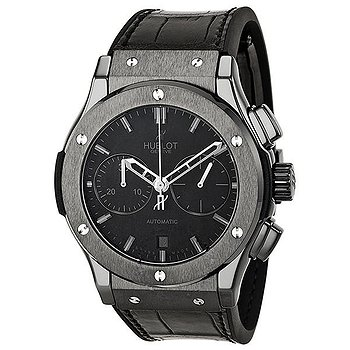 Купить часы Hublot Classic Fusion Matte Black Automatic Chronograph Black Alligator Men's Watch  в ломбарде швейцарских часов