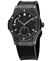 Hublot Classic Fusion Power Reserve All Black Ceramic Limited Edition Men's Watch