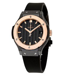Hublot Classic Fusion Quartz Black Dial Ladies Watch