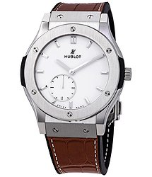 Hublot Classic Fusion Ultra Thin Titanium Automatic White Dial Men's Watch