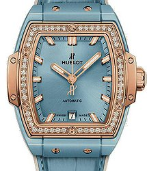 Hublot Spirit of Big Bang Light Blue Ceramic King Gold Diamonds 39