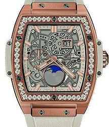 Hublot Spirit of Big Bang Moon Phase King Gold Diamonds