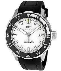 IWC Aquatimer Automatic 2000 White Dial Black Rubber Strap Men's Watch 3568-11