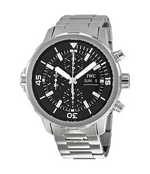 IWC Aquatimer Automatic Chronograph Black Dial Stainless Steel Men's Watch