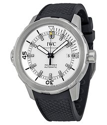 IWC Aquatimer Automatic Silver Dial Black Rubber Men's Watch