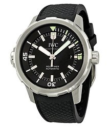 IWC Aquatimer Black Dial Black Rubber Men's Watch
