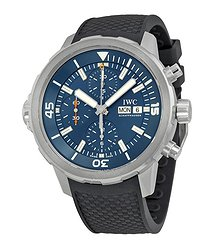 IWC Aquatimer Chronograph Blue Dial Black Rubber Men's Watch