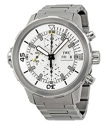 IWC Aquatimer Chronograph Silver Dial Stainless Steel Men's Watch