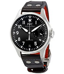 IWC Big Pilot Automatic Black Dial Black Leather Men's Watch