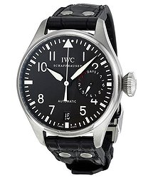IWC Big Pilot Black Dial Black Leather Men's Watch